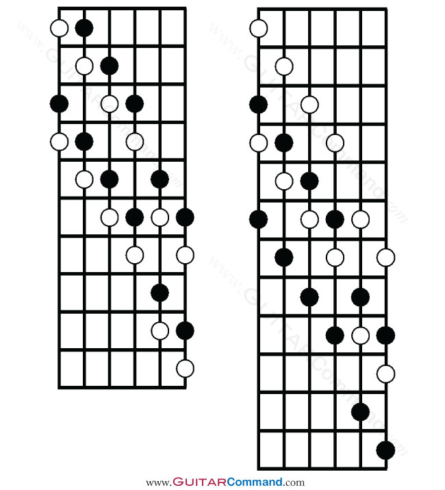 Diminished Scale Guitar Tab Notation Diagrams Info
