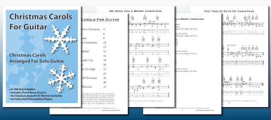 Printable Christmas Guitar TABs & Chords Download
