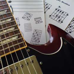 Guitar Scales Chart & Gibson SG
