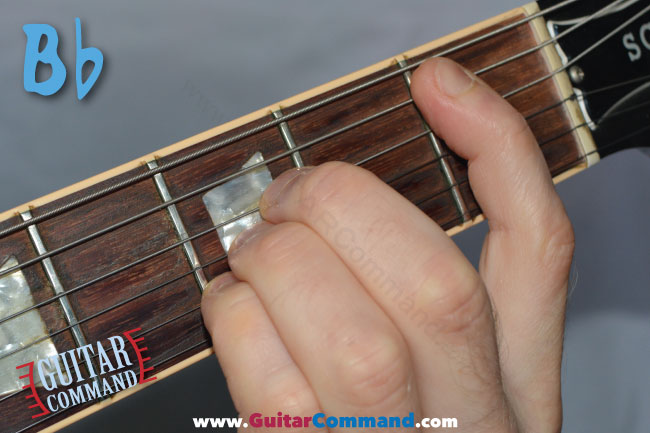 Bb Chord Guitar Finger Position Diagram: How To Play B Flat