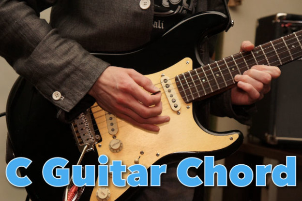 C Chord Guitar Finger Position Diagrams: How To Play C Major Chord