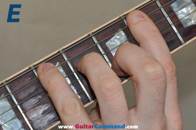 E Bar Chord Guitar Photo 1