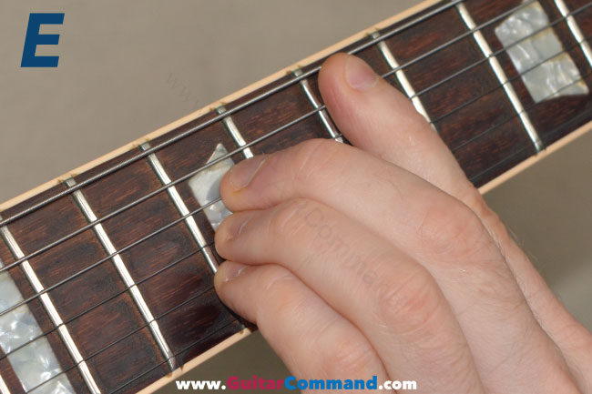 E Chord Guitar Finger Position Diagrams Photos