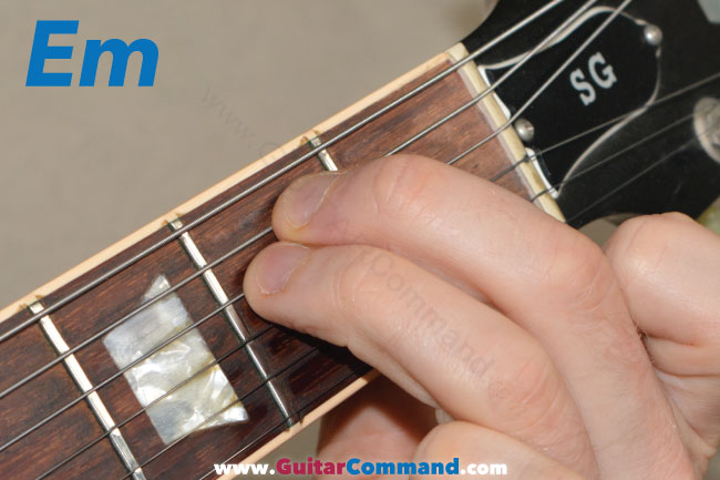 Em Chord Guitar Fretboard Diagrams & Information
