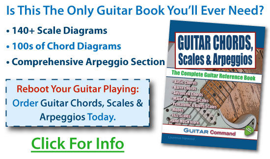 Guitar Chords, Scales & Arpeggios Book Ad