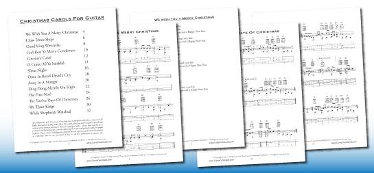 Christmas Carols For Guitar: Music, Chords & TAB PDF Book