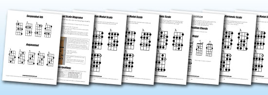 Bass Guitar Scales Chords & Arpeggios Pages