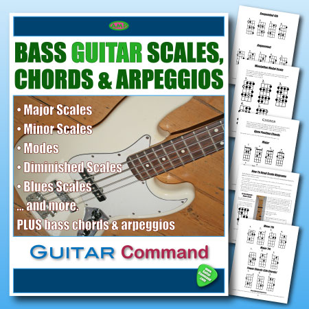 Bass Guitar Scales Chords And Arpeggios