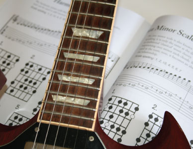 Guitar Scales Pages Open