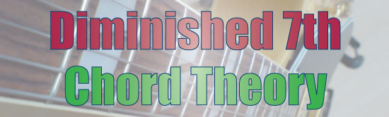 Diminished 7 Chord Theory Lesson Header