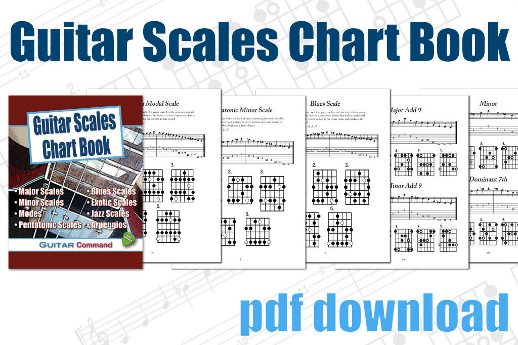 image regarding Scales Printable named Guitar Scales Chart E-book - Printable PDF Obtain