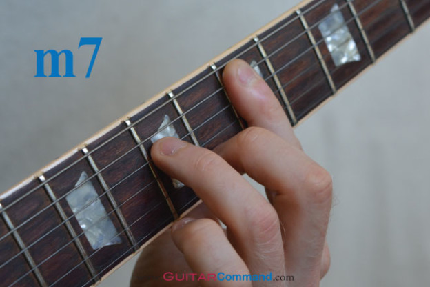 minor 7 guitar chord barre 5th string root