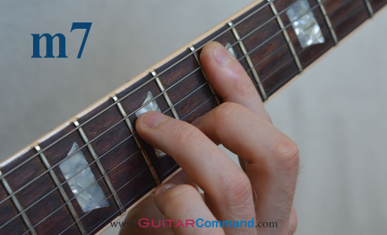 how to play a minor 7 on guitar