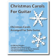 Christmas Carols For Guitar Book