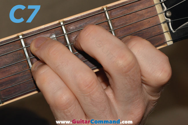 C7 Chord Guitar Diagrams, Finger Position Charts & Photos
