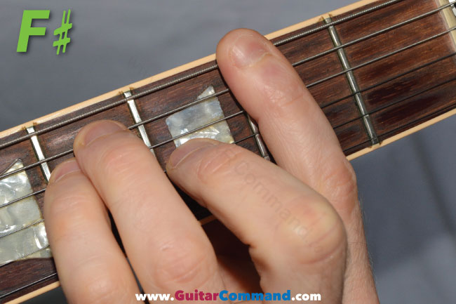 F# Chord Guitar Finger Position Diagrams & Guitar Lesson